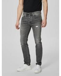 dunkelgraue enge Jeans von Selected Homme