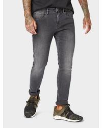 dunkelgraue enge Jeans von Tom Tailor Denim