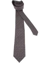 dunkelgraue gepunktete Krawatte