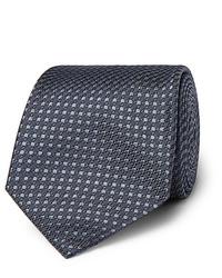 dunkelgraue gepunktete Krawatte von Brioni