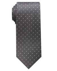 dunkelgraue gepunktete Krawatte von Eterna
