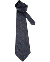 dunkelgraue gepunktete Krawatte von Fendi