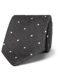 dunkelgraue gepunktete Krawatte von Paul Smith