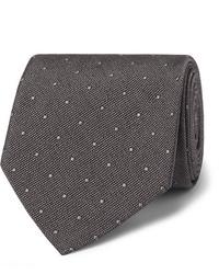 dunkelgraue gepunktete Krawatte von Tom Ford