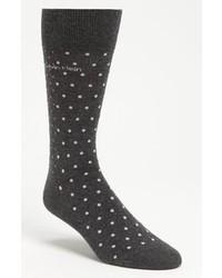 dunkelgraue gepunktete Socken