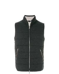 dunkelgraue gesteppte ärmellose Jacke von N.Peal