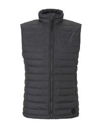 dunkelgraue gesteppte ärmellose Jacke von Tom Tailor