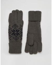 dunkelgraue Handschuhe von French Connection