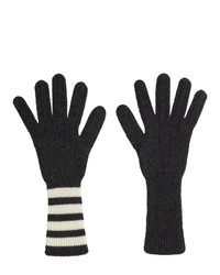 dunkelgraue Handschuhe von Thom Browne