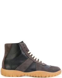 dunkelgraue hohe Sneakers