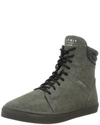 dunkelgraue hohe Sneakers von Esprit