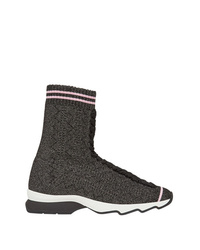 dunkelgraue hohe Sneakers von Fendi