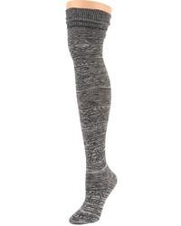 dunkelgraue hohe Socken