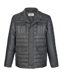 dunkelgraue Jacke mit einer Kentkragen und Knöpfen von ROGER KENT