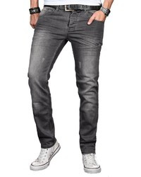 dunkelgraue Jeans mit Destroyed-Effekten von Alessandro Salvarini