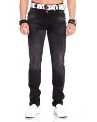 dunkelgraue Jeans mit Destroyed-Effekten von Cipo & Baxx