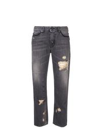 dunkelgraue Jeans mit Destroyed-Effekten von Diesel Black Gold