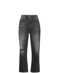 dunkelgraue Jeans mit Destroyed-Effekten von Diesel