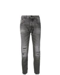 dunkelgraue Jeans mit Destroyed-Effekten von Golden Goose Deluxe Brand