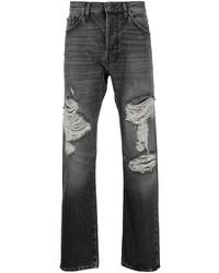 dunkelgraue Jeans mit Destroyed-Effekten von Valentino