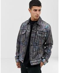 dunkelgraue Jeansjacke von ASOS DESIGN