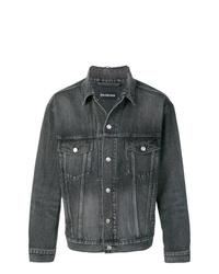 dunkelgraue Jeansjacke von Balenciaga