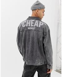 dunkelgraue Jeansjacke von Cheap Monday