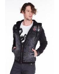 dunkelgraue Jeansjacke von Cipo & Baxx