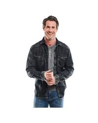 dunkelgraue Jeansjacke von ENGBERS