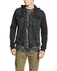 dunkelgraue Jeansjacke von New Look