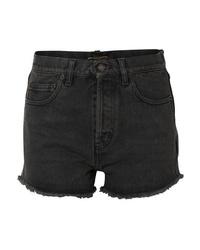 dunkelgraue Jeansshorts von Saint Laurent