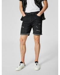 dunkelgraue Jeansshorts von Selected Homme