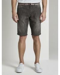 dunkelgraue Jeansshorts von Tom Tailor
