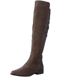 dunkelgraue kniehohe Stiefel von Tamaris