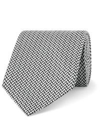 dunkelgraue Krawatte mit Fischgrätenmuster von Etro