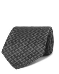 dunkelgraue Krawatte mit Hahnentritt-Muster von Tom Ford