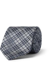 dunkelgraue Krawatte mit Karomuster