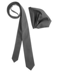 dunkelgraue Krawatte von BRUNO BANANI