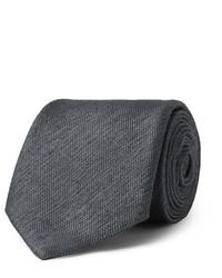 dunkelgraue Krawatte von Charvet