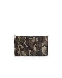dunkelgraue Leder Clutch Handtasche