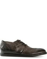 dunkelgraue Leder Derby Schuhe