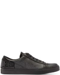 dunkelgraue Leder niedrige Sneakers von Belstaff