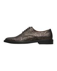 dunkelgraue Leder Oxford Schuhe von Selected Femme