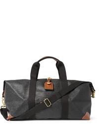 dunkelgraue Leder Reisetasche