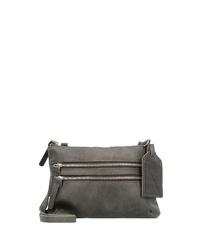 dunkelgraue Leder Umhängetasche von Cowboysbag