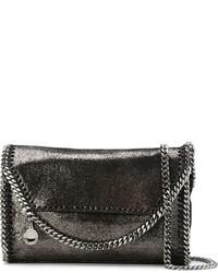 dunkelgraue Leder Umhängetasche von Stella McCartney