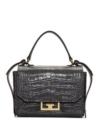 dunkelgraue Lederhandtasche von Givenchy