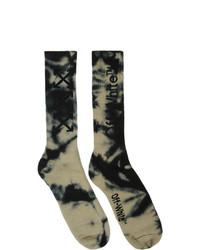 dunkelgraue Mit Batikmuster Socken von Off-White