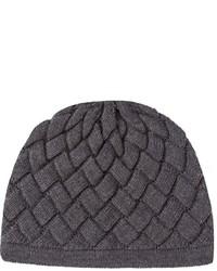 dunkelgraue Mütze von Bottega Veneta