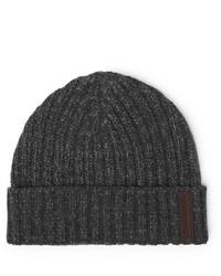 dunkelgraue Mütze von Ermenegildo Zegna